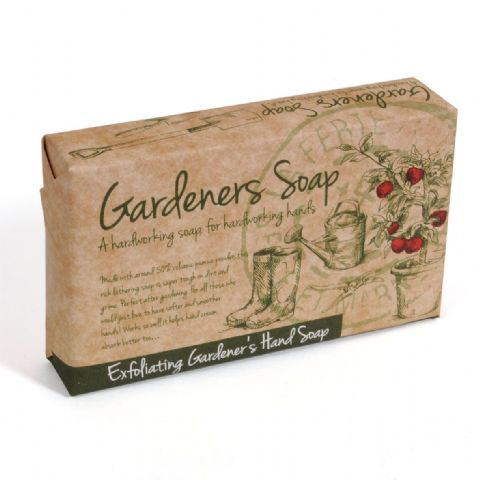 Geranium & Peppermint Exfoliating Gardener's Hand Soap Slice - Bath Bubble & Beyond 120g
